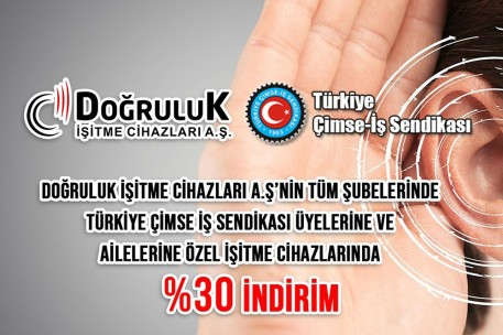 Turkey CIMSE – BUSINESS Union Members and Their Families 30% Discount at the Doğruluk Group of Companies!